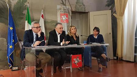 Vincenzo Ceccarelli, Enrico Rossi, Cristina Grieco e Stefania-Saccardi
