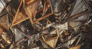 Weaving Architecture Architettura 2018 in fibra ferro e quercia rossa americana - Benedetta Tagliabue- EMBT ph Giovanni Nardi