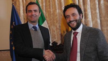 Luigi de Magistris e Ciro Borriello