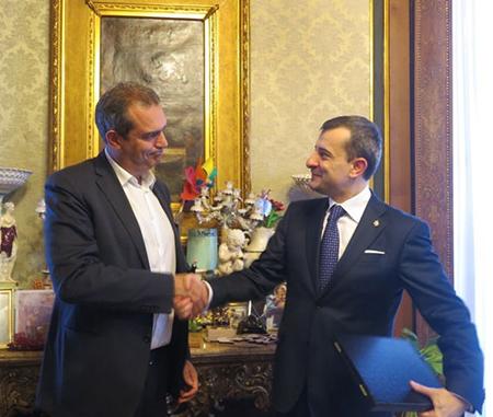 Luigi de Magistris e George Bologan