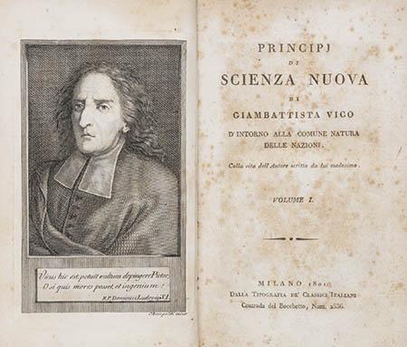 'Scienza nuova' di Giambattista Vico
