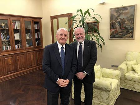 Vincenzo De Luca e Aurelio De Laurentiis