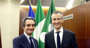 Attilio Fontana e Alessandro Fermi