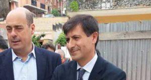 Nicola Zingaretti e Massimiliano Valeriani
