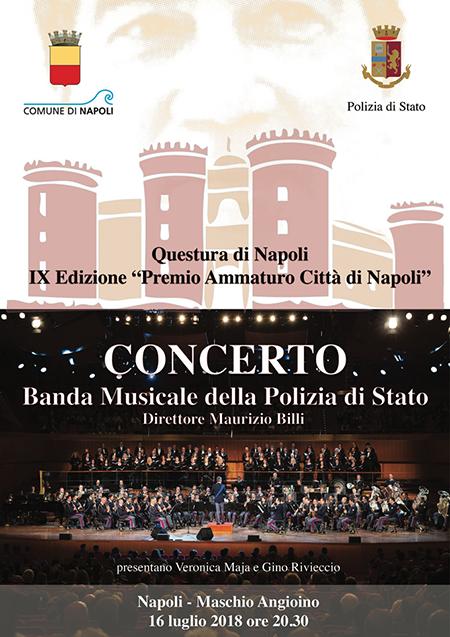 Premio Ammaturo città di Napoli Concerto Banda musicale Polizia di Stato