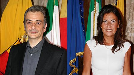 Carmine Piscopo e Annamaria Palmieri