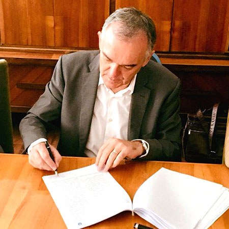 Firma accordo Piombino