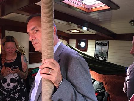 Luigi de Magistris su Freedom Flottilla