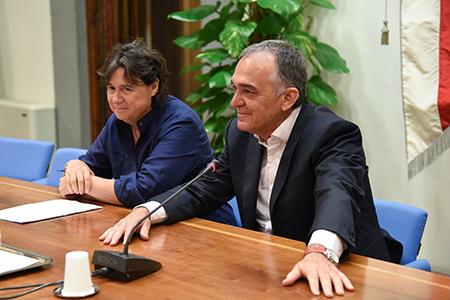Stefania Saccardi ed Enrico Rossi