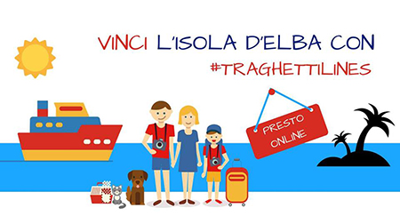 Vinci l'Isola d'Elba con #Traghettilines