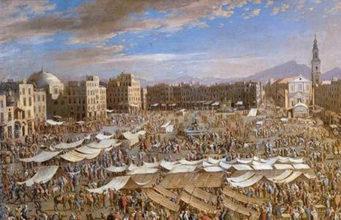 Piazza Mercato Napoli dipinta da Micco Spadaro