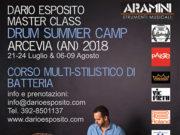 'Drum Summer Camp', masterclass di batteria con Dario Esposito