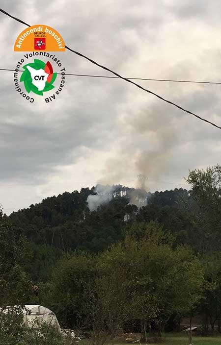 Incendio a Camaiore (LU)