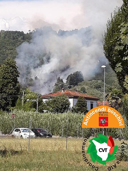 Incendio Vinchiana, Lucca