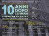 '10 anni dopo Lehman. Economia, Società, Politica'