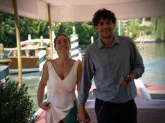 Cristiana Dell'Anna con il marito Emanuele Scamardella_arrivo a Venezia 5 settembre 2018 ph Michele Pelosio