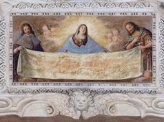 Giovanni Grattapaglia LaVergine Il beato Amedeo di Savoia San Giovanni Battista sorreggono Sindone Ph Paolo Robino