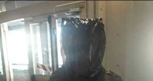 Alfredo Gianardi busto incappucciato sacco plastica