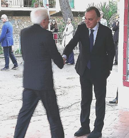 Sergio Mattarella ed Enrico Rossi