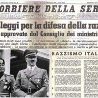 """""""1938 DIVERSI"""" prima pagina Corriere della Sera leggi razziali"""
