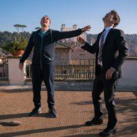 'Euforia' Valerio Mastandrea e Riccardo Scamarcio sul set in una foto di Andrea Pirrello