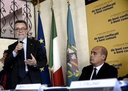 Ennio Mario Sodano e Nicola Zingaretti