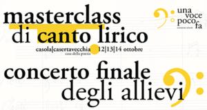 Masterclass canto lirico concerto finale