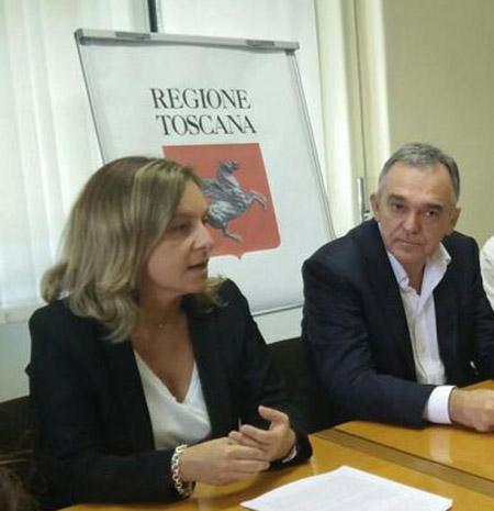 Federica Fratoni ed Enrico Rossi