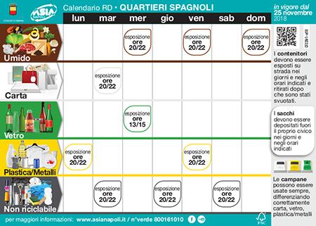 Calendario Raccolta Differenziata Napoli.Quartieri Spagnoli Napoli Nuova Raccolta Differenziata