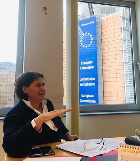 Stefania Saccardi a Bruxelles