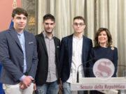 Casellati con studenti a Palazzo Madama