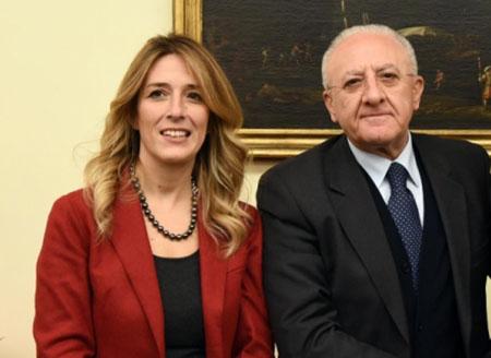 Chiara Marciani e Vincenzo De Luca
