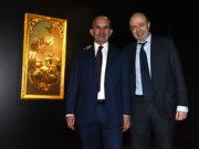 Giovanni Lombardi e Raffaele Jerusalmi con il Tiepolo restaurato