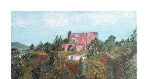 Giuseppe Cutolo, 'La masseria', olio su tela