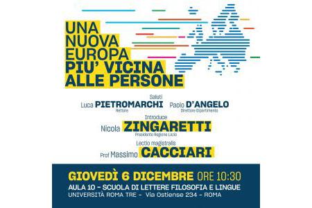 Lectio Magistralis 'Una nuova Europa più vicina alle persone'