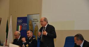 Delegato CONI, Michele De Simone e Comandante della Scuola Specialisti, Col. Nicola Gigante - ph. ph. Aeronautica Militare