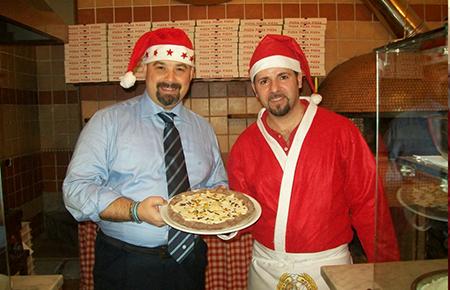 Pizza panettone Rosario Lopa e Rosario Gallo
