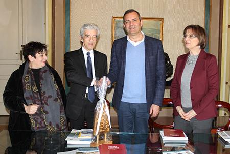 Elena Coccia, Sergio Bonomelli, Luigi de Magistris e Simona Ferrarini