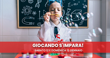 'Giocando s'impara!' 12 e 13 gennaio a Città della Scienza, Napoli