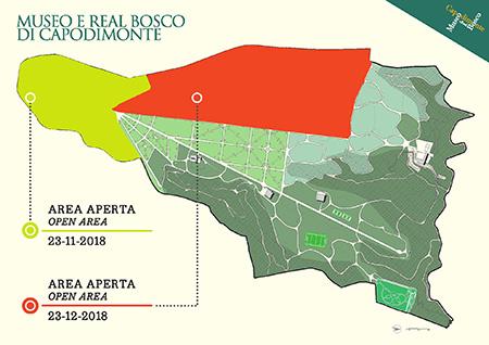 Mappa parziale riapertura Real Bosco di Capodimonte