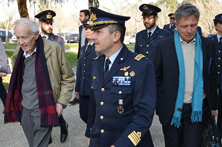 Prof. Leggett, Col. Gigante e Prof. Silvestrini