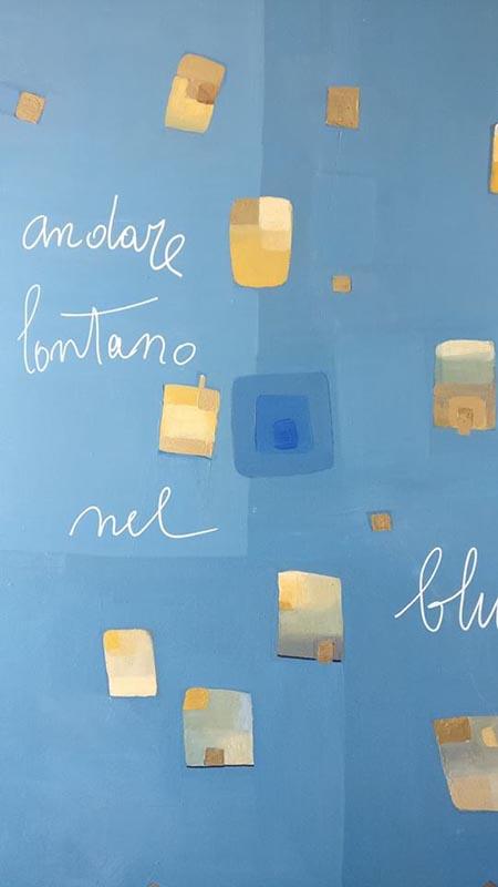 Maria Pia Daidone, 2018, Andare lontano nel blu, tecnica mista, cm. 70x50