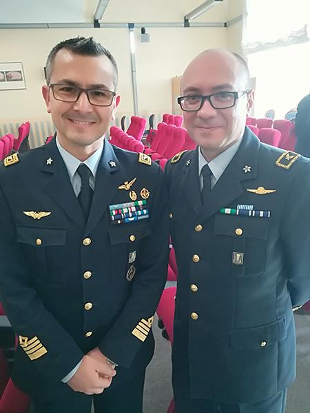 Col. Nicola Gigante e Cap. Giulio Finotti