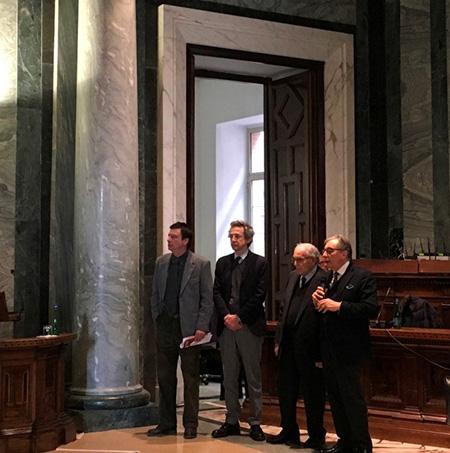 Ottavio Lucarelli, Gaetano Manfredi, Marco Salvatore e Lucio d'Alessandro