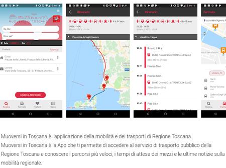 App Muoversi in Toscana