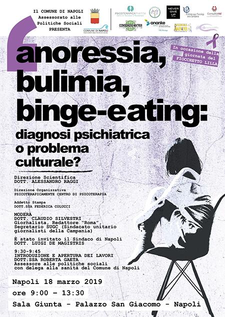 Convegno ''Anoressia, bulimia, binge eating: diagnosi psichiatrica o problema culturale?'