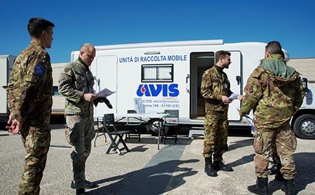 Donazione sangue Scuola Specialisti dell'Aeronautica Militare - Caserta