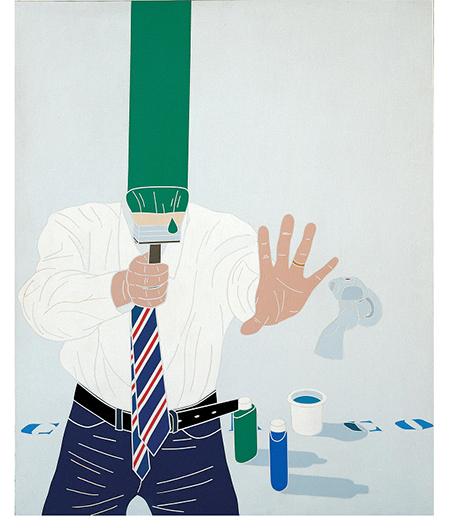 Emilio Tadini, Color & Co. n. 5 (1969), acrylic on canvas, Courtesy Fondazione Marconi, Milano