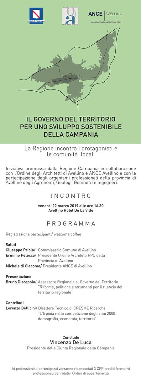 'Il Governo del Territorio per uno sviluppo sostenibile della Campania'