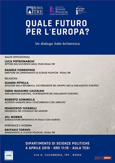 'Quale futuro per l'Europa? Un dialogo italo - britannico'